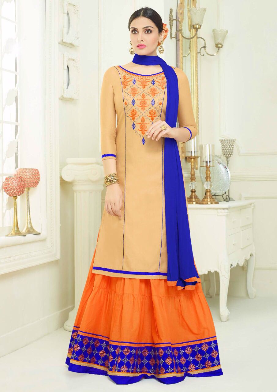 02c89520bc0454 Raj Kumari Designer Party Wear Free Size Dress – komal fashion