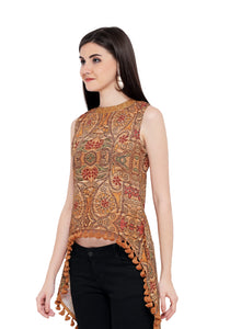 ZC TOP 2003 Poly Rayon Western Top