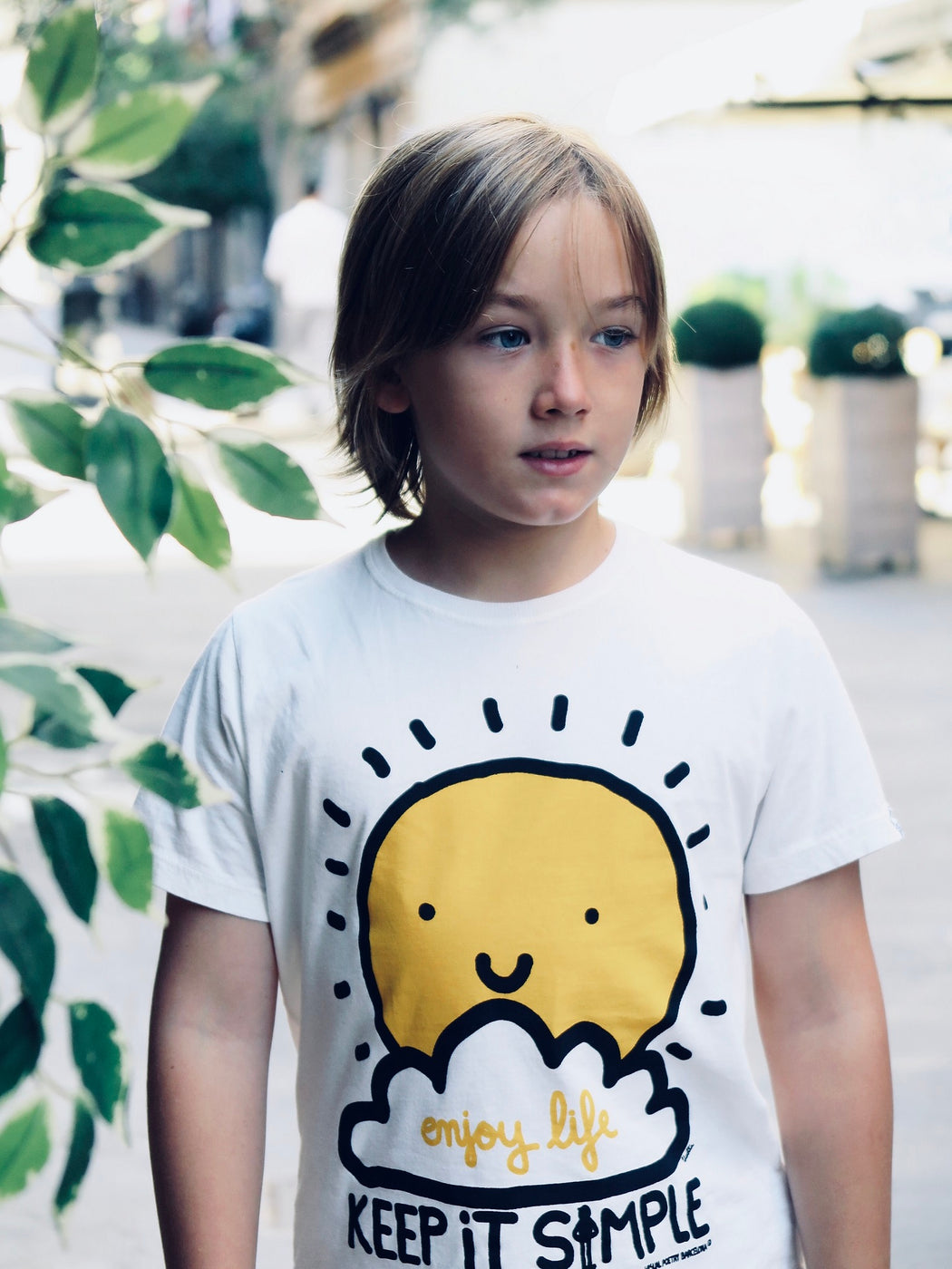 "Camiseta niño niña. ""Keep it simple"""