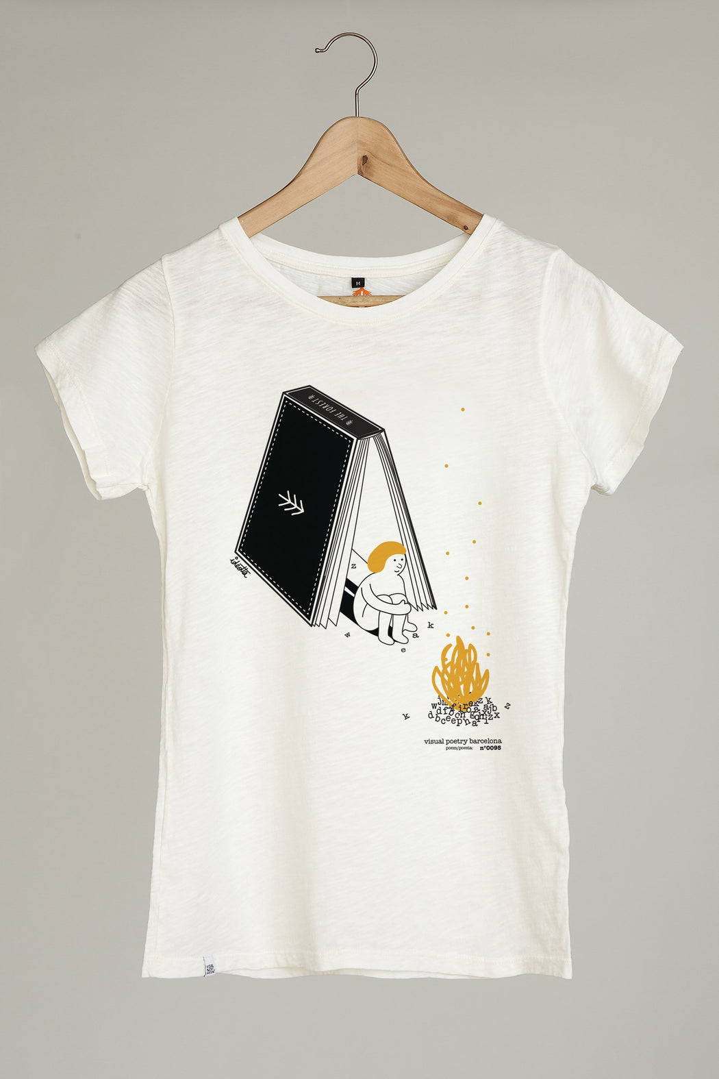 "Camiseta mujer. ""book tent"" - Visual Poetry Barcelona"
