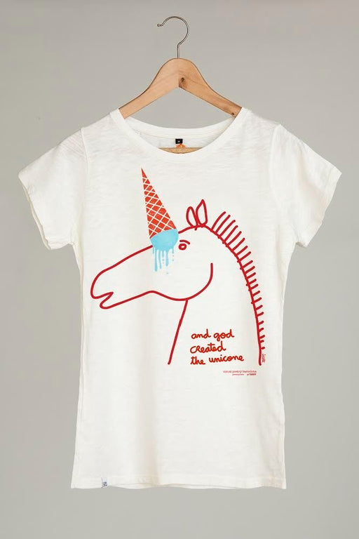 "Camiseta mujer. ""unicornio..."" - Visual Poetry Barcelona"