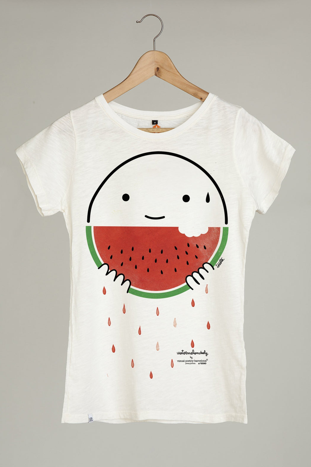 "Camiseta mujer. ""watermeloncholy"" - Visual Poetry Barcelona"