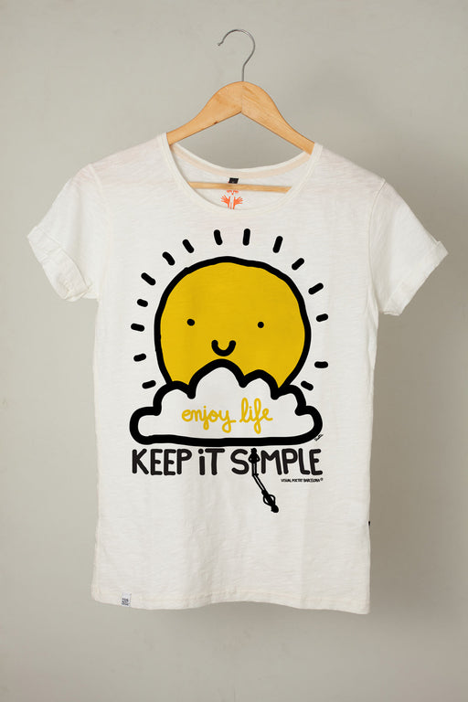 "Camiseta mujer. ""Keep it simple"""