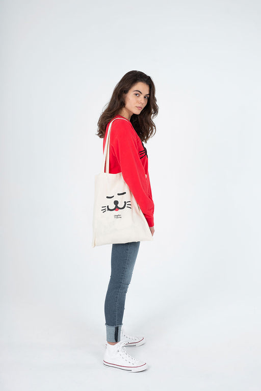 "Tote Bag, ""Catisfaction"""