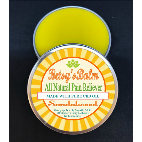 Betsy's Balm All Natural Pain Reliever with Full Spectrum CBD Oil