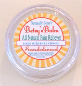 FREE SAMPLE BETSY'S BALM All Natural Pain Reliever with CDB (Limit 2 & NOT FOR RESALE)