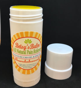 Betsy's Balm All Natural Pain Reliever with Full Spectrum CBD Oil Stick