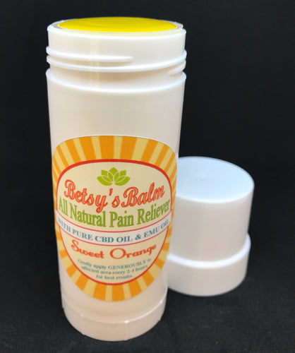 Betsy's Balm All Natural Pain Reliever with Full Spectrum CBD Oil and Emu Oil Stick