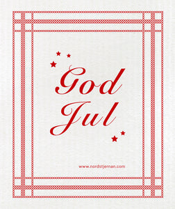 God Jul Swedish Dishcloth