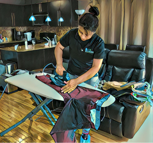 In home ironing services