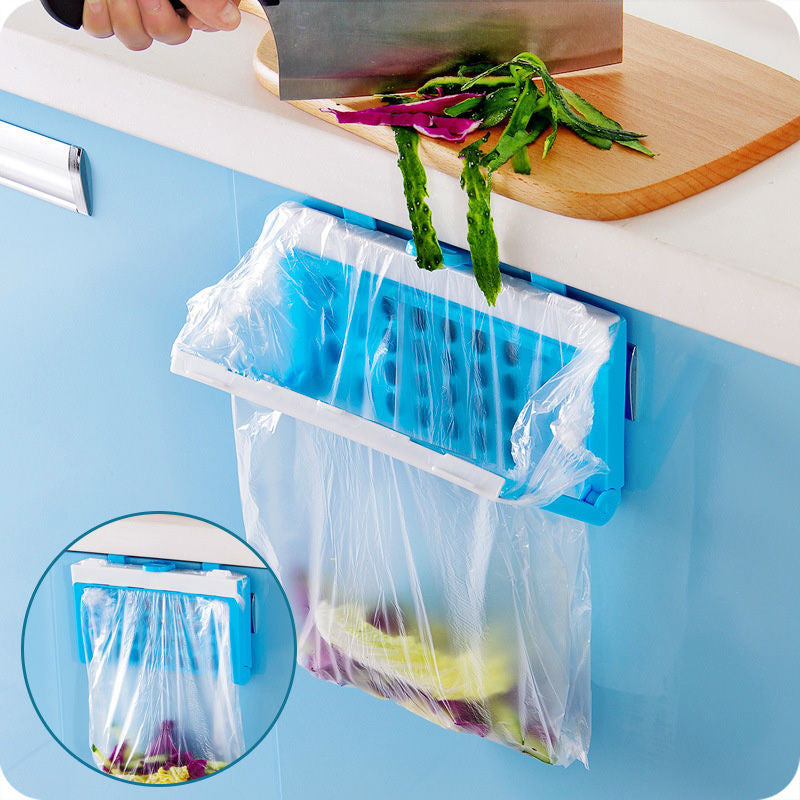 Hanging and Folding Garbage bag holder
