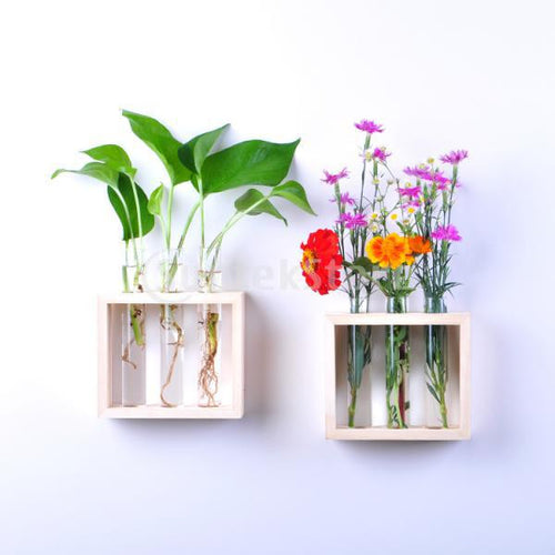 *NEW for 2017* Hanging Flower Vase Bottle in Wood Stand