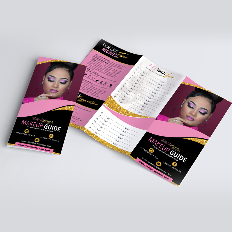 Str8Beat Makeup Brochure
