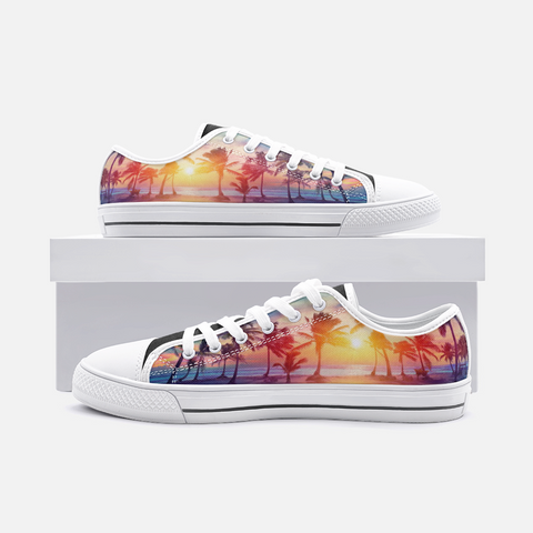 LA Vibes Unisex Low Top Canvas Shoes - Exodus Longboard Co.