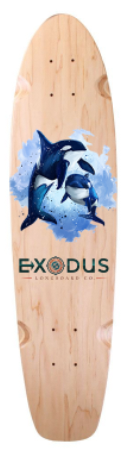 Sea creature mini longboard decks - Exodus Longboard Co.