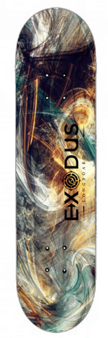 Color Fractal Skateboard Decks - Exodus Longboard Co.