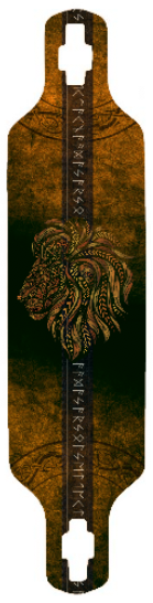 Lion of Judah Longboard Deck