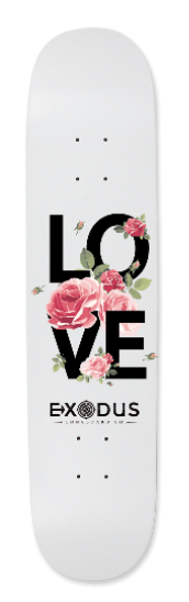 Love & Roses Skateboard deck