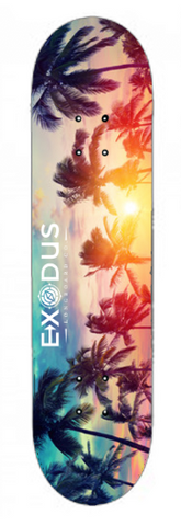 7.75 Mellow Sunset Skateboard Decks - Exodus Longboard Co.