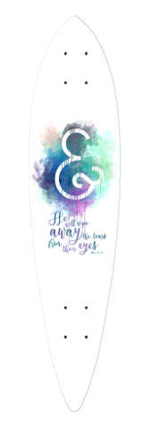 Revelations 21:4 Pintail Longboard Deck