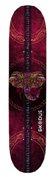 Ruby Elephant Skateboard Deck