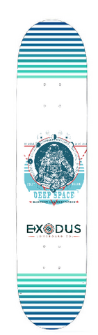 Astronaut Deep Space Skateboard Deck - Exodus Longboard Co.