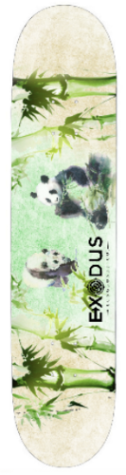 Watercolor Panda Skateboard Deck