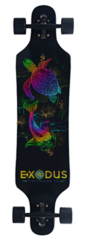 Koi Fish and Turtle Complete Longboard - Exodus Longboard Co.