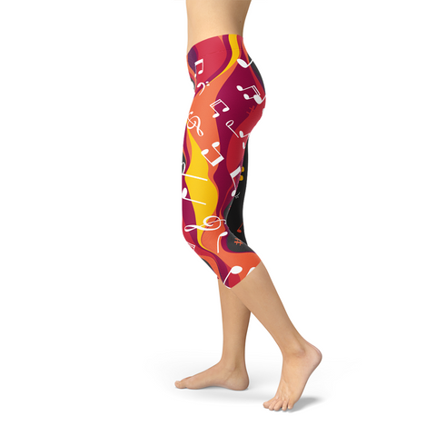Guitar and Music Note Capri Leggings - Exodus Longboard Co.