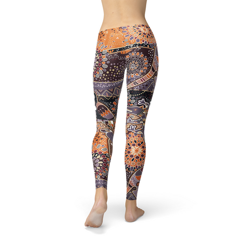 Womens Aboriginal Dreamtime Leggings - Exodus Longboard Co.