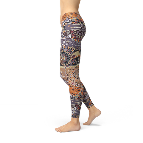 Womens Aboriginal Dreamtime Leggings