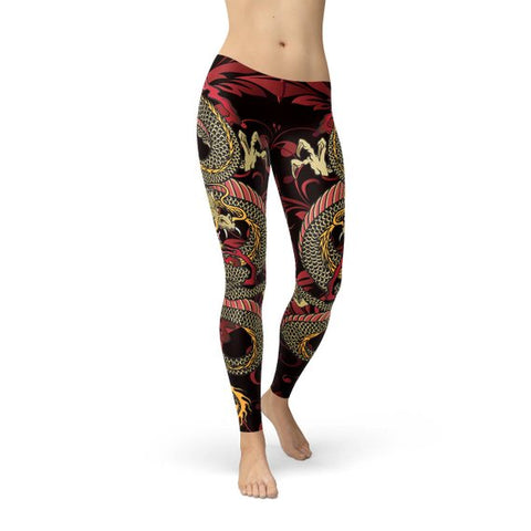 Womens Dragon Leggings