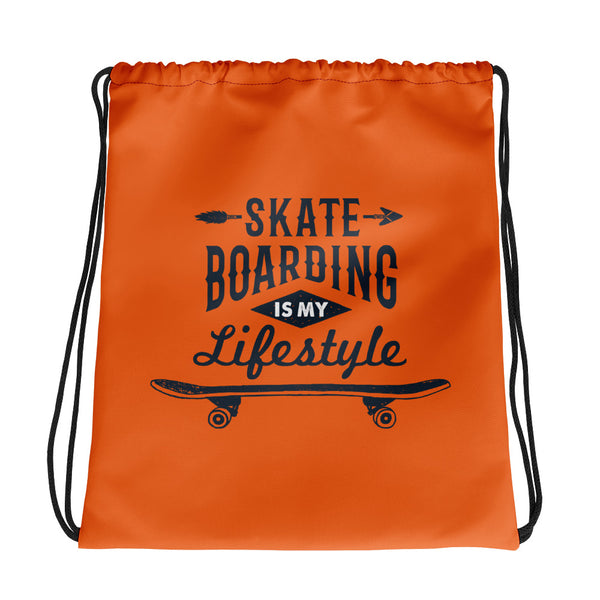 Skateboarding lifestyle drawstring bag