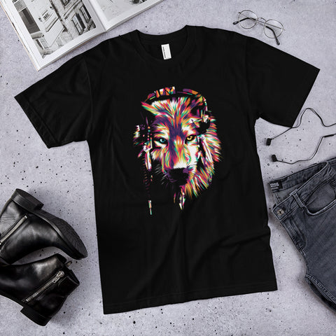 Wolf Headphones T-Shirt - Exodus Longboard Co.