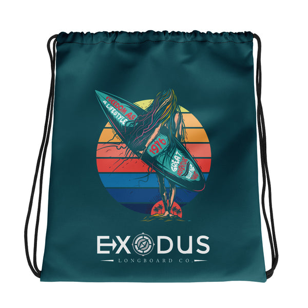 Surfer Girl Exodus drawstring bag