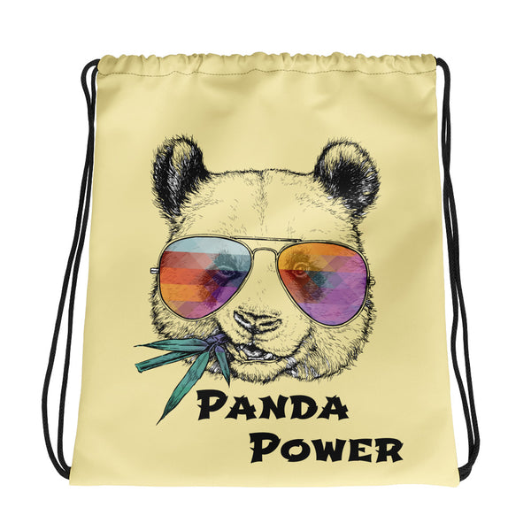 Panda Power drawstring bag