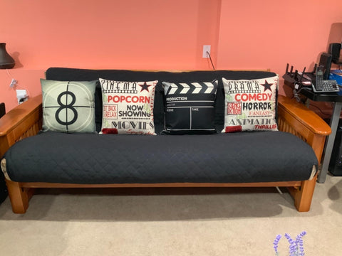 Love the look of these pillow covers! They are very sturdy and add to my movie room nicely.