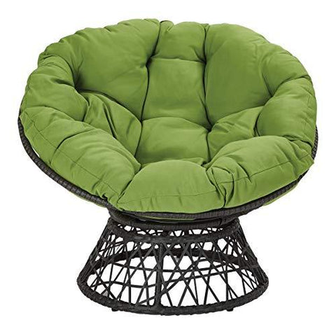 OSP Designs  Papasan Chair, Black