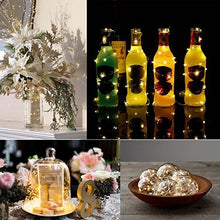 Load image into Gallery viewer, [6-PACK] 7Feet Starry String Lights,Fairy String Lights 20 Micro Starry Leds On Silvery Copper Wire. 2pcs CR2032 Batteries Included, Works for Wedding Centerpiece,Party,Table Decorations(Warm White)