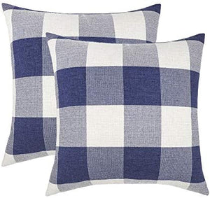 Farmhouse Buffalo Check Plaid Throw Pillow Covers Cushion Case