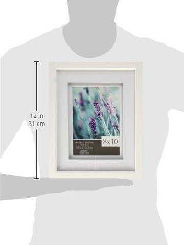 Image of GALLERY SOLUTIONS 8x10 White Wood Frame with Double White Mat For 5x7 Image #12FW1117