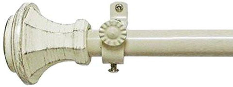 Image of Achim Home Furnishings Buono II Rod with Carson Finial, 28-Inch Extends to 48-Inch - zingydecor
