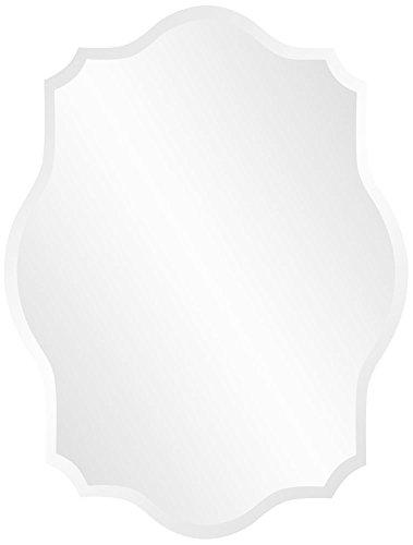 Howard Elliott 36010 Frameless Mirror, Scalloped Edges, Rectangle, 24