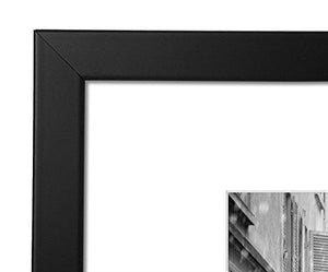 11x13-inch Black Picture Frame - Made to Display Pictures 8x10-inches with Mat or 11x13-inches Without Mat - zingydecor