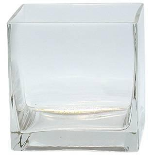 12pc Clear Square Glass Vase Cube 5 Inch - 5