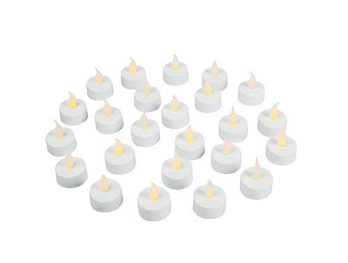 Flameless LED Tea Light Candles, Realistic, Battery Powered, Unscented LED Candles, Fake Candles, Tealights (24 Pack) - Vont - zingydecor
