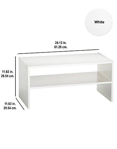 ClosetMaid 8993 Stackable 24-Inch Wide Horizontal Organizer, White