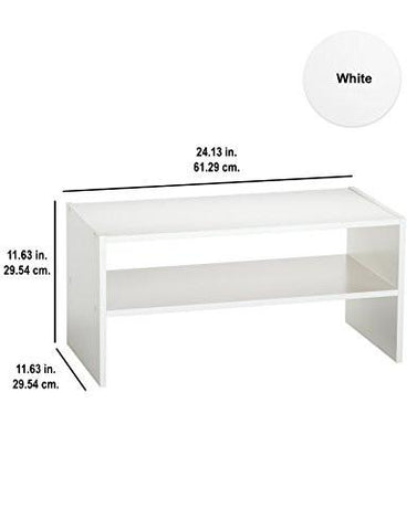 Image of ClosetMaid 8993 Stackable 24-Inch Wide Horizontal Organizer, White