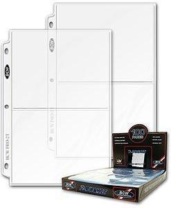 BCW 25ct Photo Archival Storage Binder Pages, 2-Pocket, 5x7-Inch