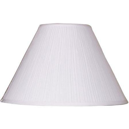 Better Homes and Gardens Soft Pleat Lamp Shade, White - zingydecor